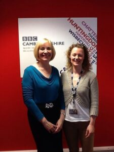 Pat Duckworth at BBC Radio Cambridgeshire