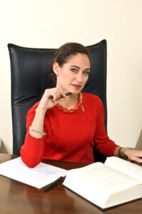 Woman at a desk in the workplace